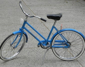 "Rare Raleigh Mountie Vintage Child's Bicycle, Blue, 20"" Bike"