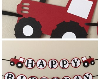 Red Tractor Deluxe Birthday Package Farm Birthday