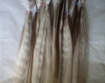 Blythe / BJD / MSD / Combed Doll Hair / Re root / Combed Suri Alpaca / Wig    (Pinto4)