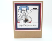 Happy Father's Day Greeting Card, Father's Day Grilling Card for Dad, Handmade Father's Day Card for Husband, Classy Father's Day Gift