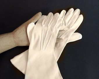 Cream Gloves by Shalimar, Mid-Arm Length