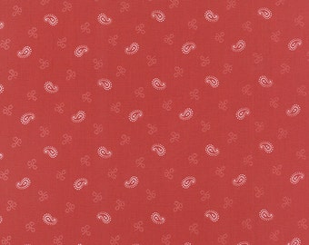 Miss Scarlet Red Floral  Moda Quilt Fabric by the 1/2 yard