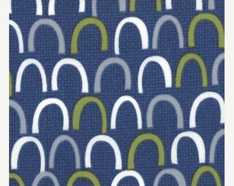 ON SALE Oink A Doodle Moo Navy Geometric Moda Quilt Fabric by the 1/2 yard