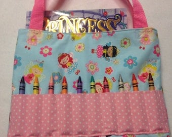 Crayon Art Tote Bag Princess Theme