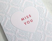 Letterpress Valentine - Miss You