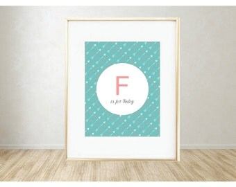 Personalized Printable Art: F is for...