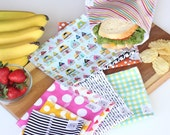 Modern - 10 bag snack and sandwich system - FREE US SHIPPING + two minis - family set