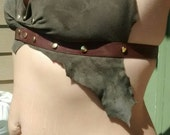 Barbarian queen leather festival garb post apocalyptic halter top