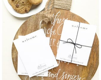 Welcome to the Neighborhod | Notepad | Neighbor Gift | New Neighbor Stationary
