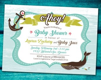 Sail Away Baby Shower Invitations *Digital Download*