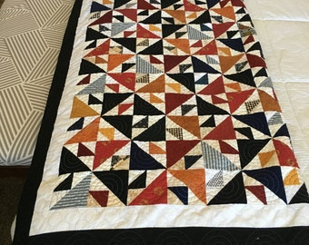 NOT JUST SCRAPS -Beautiful Interwoven Quilt