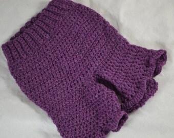 Wigglebunz Crocheted wool shorts - purple