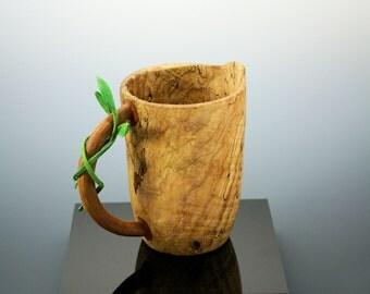 Wooden Vessel, Maple Burl Pitcher, A2548B,