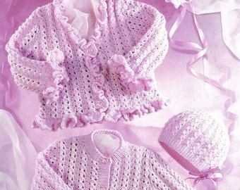 Girls knitting pattern, baby and toddler, age newborn to 6t. digital download