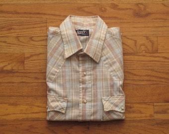 mens vintage Levis western shirt