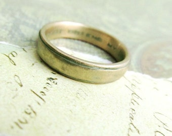 Custom order Reserved For Katelynn Cassidy , 10k Yellow Gold Men's Wedding Ring, Comfort Fit, Oxidized Antique Patina... 4 x 2mm