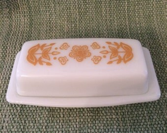 2 Vintage Pyrex Butter Dishes