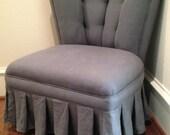 Petite Vintage Linen Chair