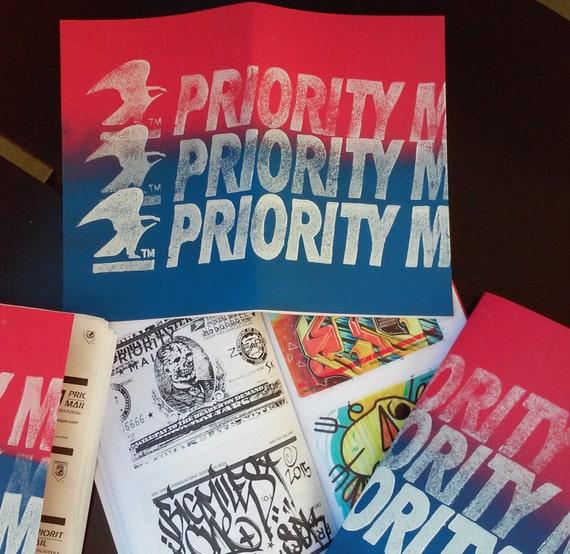 Priority Mail Sticker Graffiti Items similar to Prior...