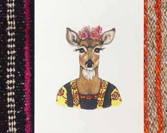 Frida Kahlo Doe fine art print