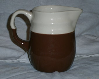 Vintage Brown and Ivory Oxford Stoneware Creamer