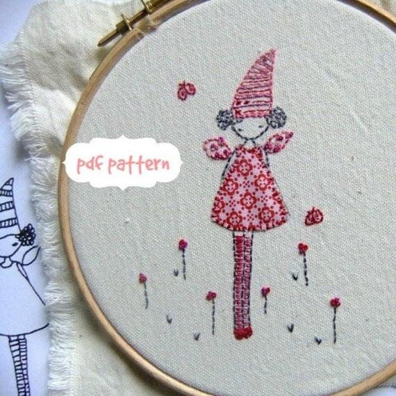 Tooth fairy Hand embroidery pattern pdf