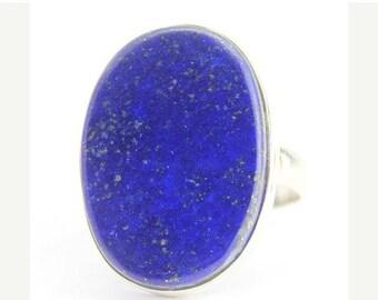 VALENTINE SALE 55% Lapis Sterling Silver Ring 1267RG