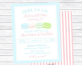 Macarons & Pastries Invitations