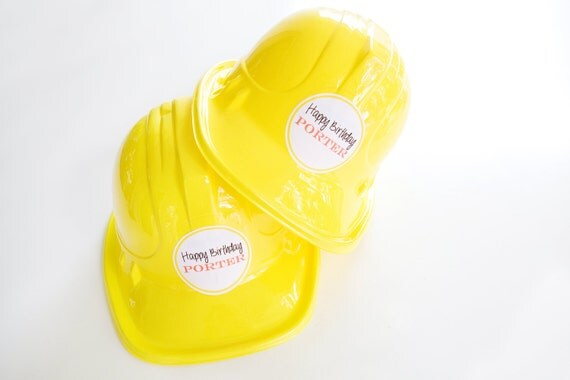 Construction Party Stickers