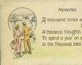 Romantic Vintage Postcard MEMORIES By Holmfirth Bamforth – A Romantic Stroll To the Lake