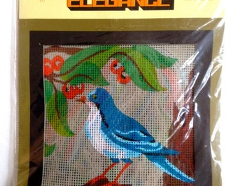 Blue Bird Needlepoint Kit – Elegance Arts Tapestry Kit