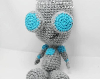Gir robot from invader zim amigurumi plush