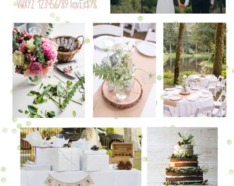Custom styling moodboard for your wedding