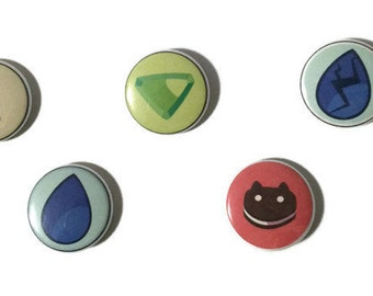 "1"" Steven Universe Homeworld Gems Buttons"