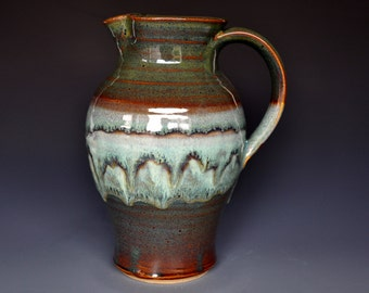 Ceramic Pitcher Green Mountain Pitcher Ceramic Pottery Jug A