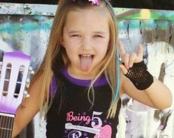 Rock Star Birthday shirt, tutu, and outfit