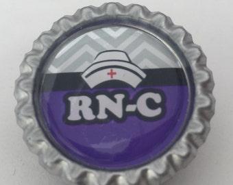 RN-C Certified Registered Nurse Work Badge ID Badge