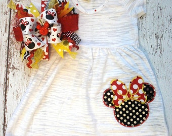 Miss Minnie Burnout Dress...Vacation, Birthday, Pageant