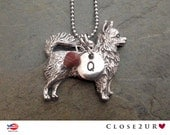 Close 2UR Heart - Long Haired Chihuahua Necklace