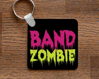 Band Zombie - Funny Marching Band Music Themed Keychain