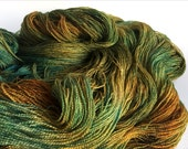 Lothlorien BFL/ Silk Lace Yarn. Lady Of The Forest Bower