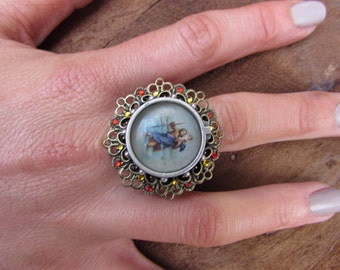 religious iconography jewellery,  Catholic Jewelry  St Christopher ring, one of a kind