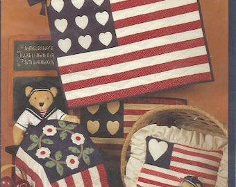 "The Little Quilt Collection ""Flags"" Wall hanging Quilt, Pillows, and More"