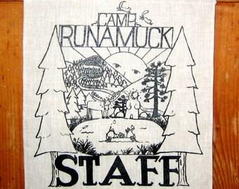 Camp Runamuck Linen Wall Banner