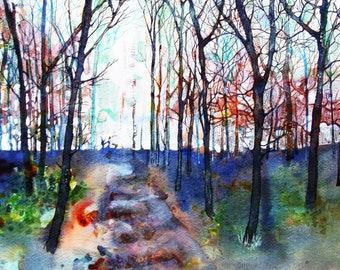 Winter Trees Print From My Original Painting