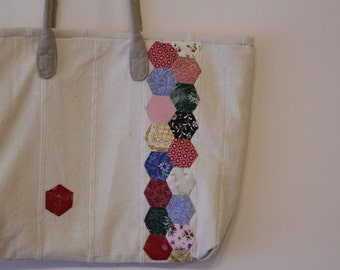 Bag with hexagons on it
