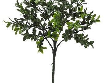 GREEN Boxwood Spray - Artificial Flower Spray, Flower Crown, Terrarium, Fairy Garden