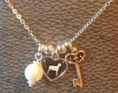 "Stockshow/FFA/Animal 3 Charm Necklace on 18"" chain"
