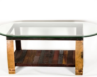 NAPA - Tafel - Wine Tank Wood and Stave Coffee Table