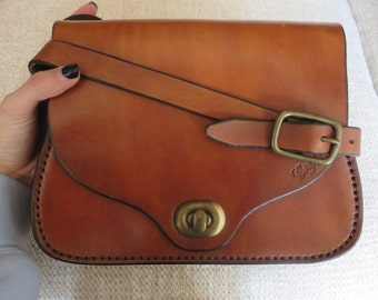 Cuirs Ney French Leather Satchel